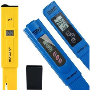 Monzana Wasser Messgerät Temperatur-, TDS-, EC- und PH mit LCD Display