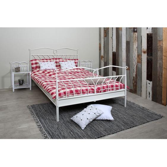 mooved Bett Capitol City 140x200 cm Metall Weiß