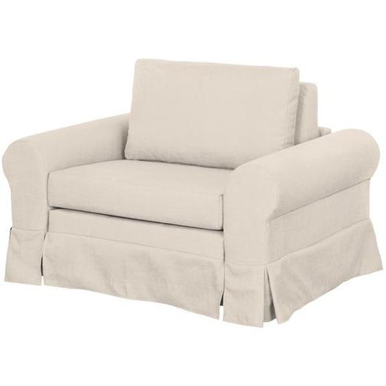 mooved Schlafsessel Latina IV Creme Webstoff mit Schlaffunktion/Bettkasten 125x90x90 cm (BxHxT)