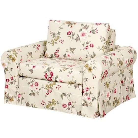 mooved Schlafsessel Latina VI Creme Flachgewebe mit Schlaffunktion/Bettkasten 125x90x90 cm (BxHxT)