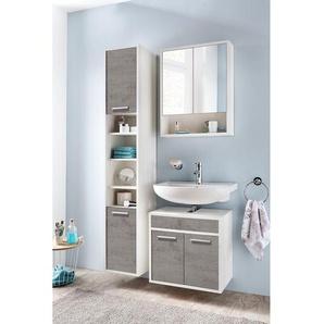 mooved Spiegelschrank Manado Spanplatte Weiß 57x72x16 cm (BxHxT) Spiegel Modern 2-türig