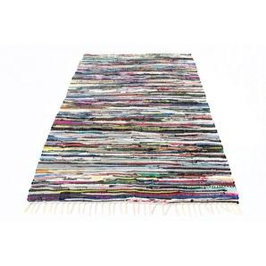 morgenland Wollteppich Kelim Teppich Levi, rechteckig, 6 mm Höhe, reine Baumwolle B/L: 70 cm x 140 cm, 1 St. bunt Kelim-Teppiche Orientteppich Teppiche