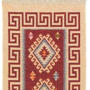 morgenland Wollteppich Kelim Teppich Phönix, rechteckig, 5 mm Höhe, reine Baumwolle B/L: 60 cm x 150 cm, 1 St. rot Kelim-Teppiche Orientteppich Teppiche