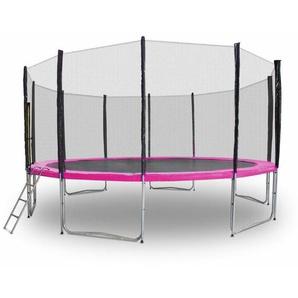 Gartentrampolin Trampolin 490cm Modell 2019 Randabdeckung Pink - MS POINT