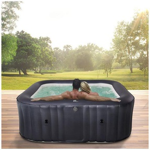 mSpa Whirlpool »Muse Otium M-OT061 aufblasbarer Outdoor Pool«, (61181800-tlg), Extra dickes Rhino-Tech 6-Schicht-PVC, 125Luftdüsen, 185 x 185 x 70 cm, Für 6 Personen