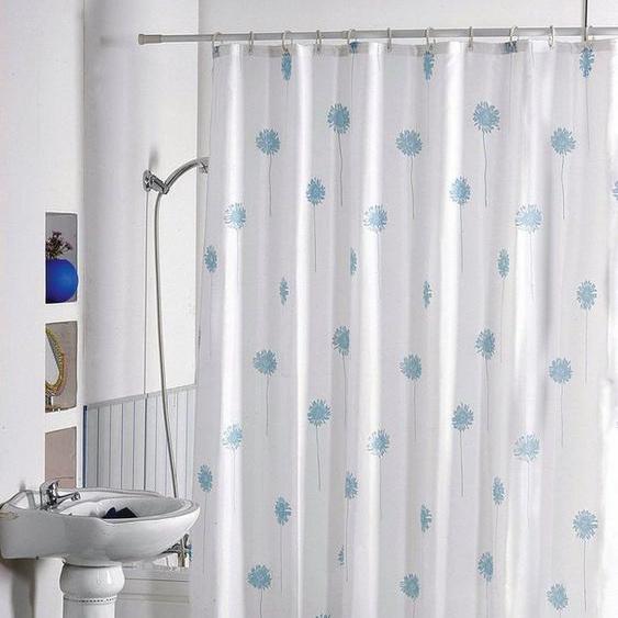 MSV Duschvorhang »Blaue Blumen« Breite 180 cm, Höhe 200 cm