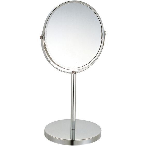 MSV Schminkspiegel Kosmetikspiegel Standspiegel Badezimmerspiegel Capri 3-Fach Vergrößerung - Ø 17cm