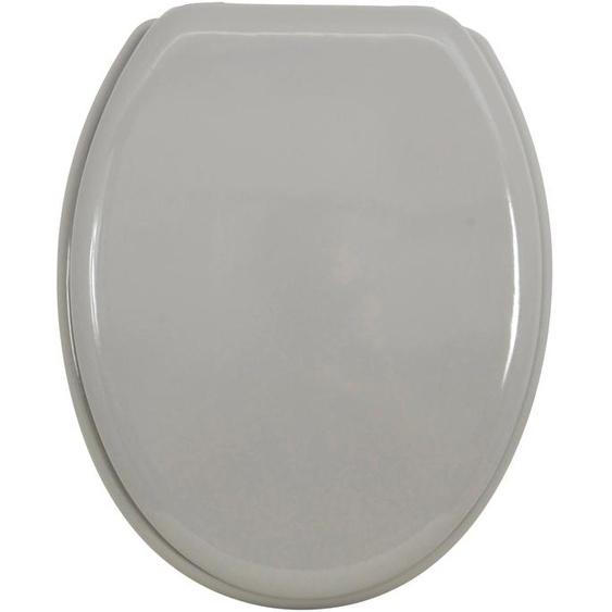 MSV WC-Sitz, MDF-Kern Einheitsgröße grau WC-Sitze WC Bad Sanitär WC-Sitz