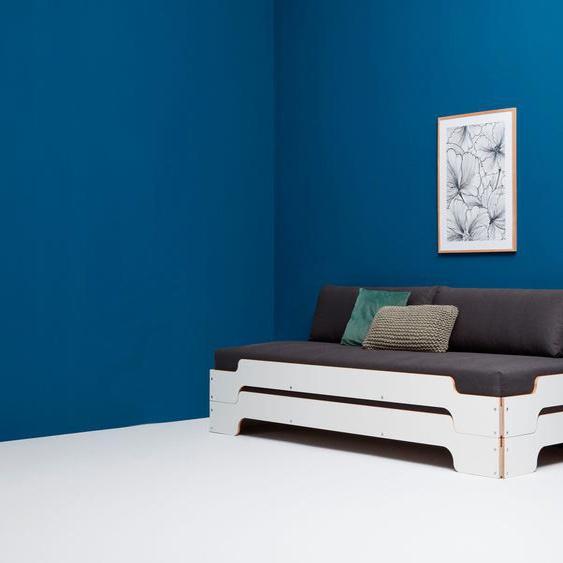 Müller SMALL LIVING Daybett »STAPELLIEGE Komfort-Set«, inklusive 2 bequemen Rückenkissen und 2 Matratzen mit hochwertigem Bergamo Bezug und 2 Lattenrosten, ausgezeichnet mit dem German Design Award - 2019