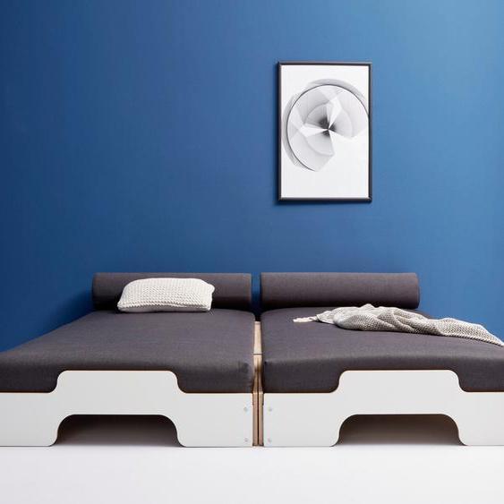 Müller SMALL LIVING Daybett »STAPELLIEGE Komfort-Set«, inklusive 2 farbigen Nackenrollen und farbig passenden Matratzen in hochwertigem Bergamo Stoff und 2 Lattenroste, ausgezeichnet mit dem German Design Award - 2019