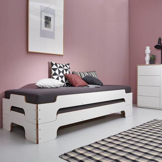 Müller SMALL LIVING Daybett »STAPELLIEGE Komfort-Set«, inklusive 2 Matratzen mit hochwertigem Bergamo Stoff bezogen und 2 Lattenrosten, ausgezeichnet mit dem German Design Award - 2019