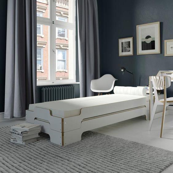 Müller SMALL LIVING Daybett »STAPELLIEGE Komfort-Set«, inklusive 2 Matratzen mit Tessuto Bezug und 2 Lattenrosten, ausgezeichnet mit dem German Design Award - 2019