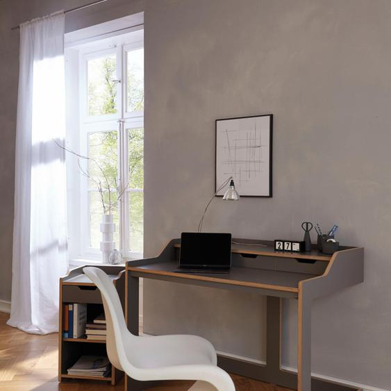 Müller SMALL LIVING Sekretär PLANE, praktisch für kleine Räume Mittig eine Blende mit Magnethalterung, um Kabel zu elegant verbergen grau Schreibtische Bürotische und Büromöbel Sekretäre