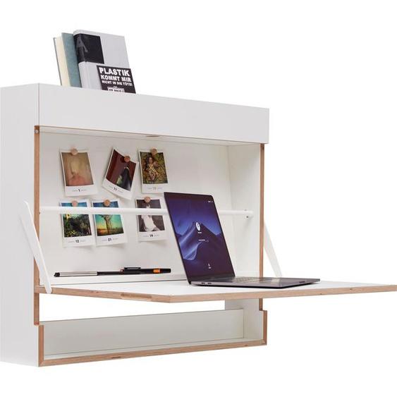 Müller SMALL LIVING Sekretär Workout, praktische Umstellung von Sitz- zum Steharbeitsplatz Einheitsgröße weiß Sekretäre Bürotische und Schreibtische Büromöbel