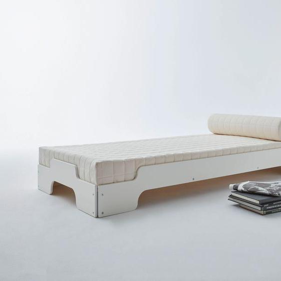 Müller SMALL LIVING Stapelbett STAPELLIEGE Klassik ( eine Liege), Gestellhöhe: 23,5 cm, ausgezeichnet mit dem German Design Award - 2019 100x200 cm weiß Bettgestelle Betten Daybetten