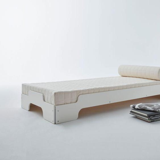 Müller SMALL LIVING Stapelbett STAPELLIEGE Komfort ( eine Liege), Gestell: Komforthöhe 27.5 cm, ausgezeichnet mit dem German Design Award - 2019 90x200 cm weiß Bettgestelle Betten Daybetten