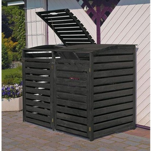 Mülltonnenbox Vario III für 2 Tonnen Anthrazit