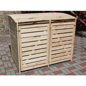 Mülltonnenbox Vario III für 2 Tonnen Natur