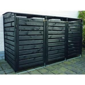 Mülltonnenbox Vario III für 3 Tonnen Anthrazit