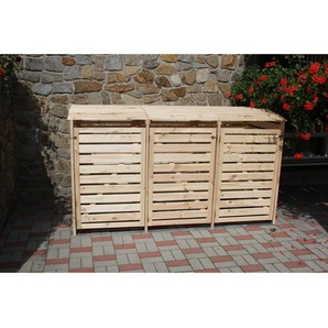 Mülltonnenbox Vario III für 3 Tonnen Natur