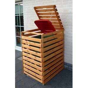 Mülltonnenbox Vario V für 1 Tonne Honigbraun