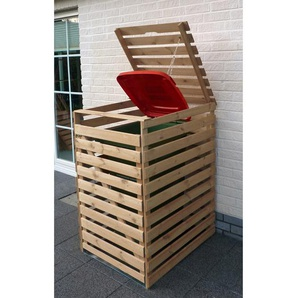 Mülltonnenbox Vario V für 1 Tonne Natur