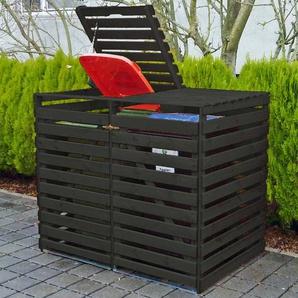 Mülltonnenbox Vario V für 2 Tonnen Anthrazit