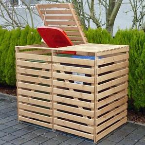Mülltonnenbox Vario V für 2 Tonnen Natur