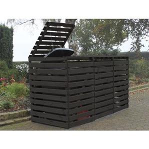 Mülltonnenbox Vario V für 3 Tonnen Anthrazit