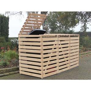 Mülltonnenbox Vario V für 3 Tonnen Natur