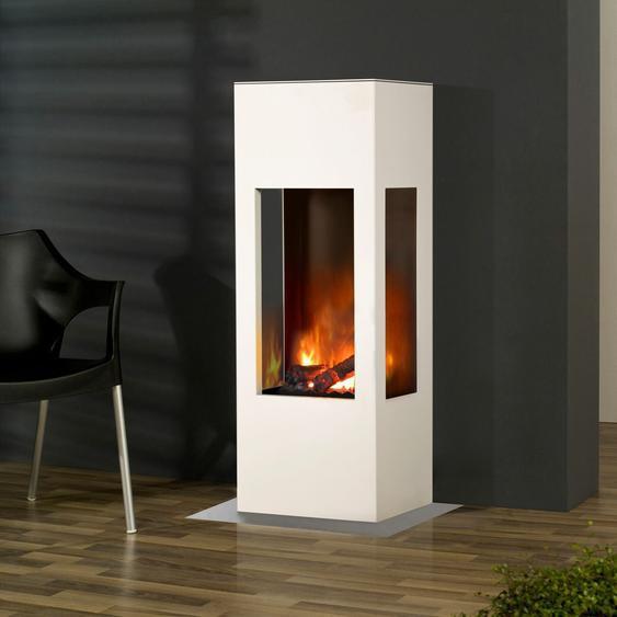 Muenkel Design Prism Fire [bioethanolkamin 3-seitige Sicht]: Weiß