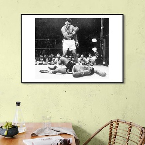 Muhammad Ali rematch with Sonny Liston, 1965 - Gerahmtes Poster