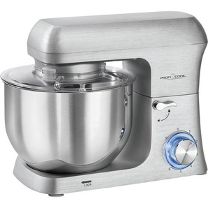 Multi-Küchenmaschine , Edelstahl , Metall , 6 L , 43.7x42.0x16.7 cm , sicherer Stand durch Saugfüße, Spritzschutz, Multifunktionsarm , Küchengeräte, Küchenmaschinen