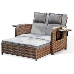 Multifunktions-Sofa Trinidad braun/grau 117 x 90 x 90 cm