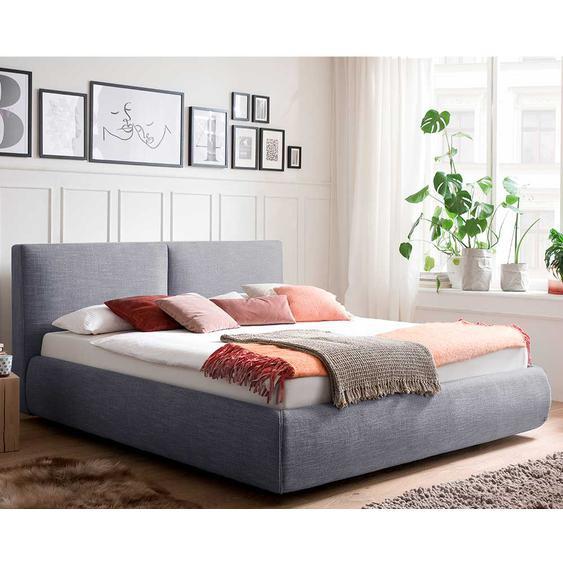 Multifunktionsbett in Blau Webstoff Skandi Design