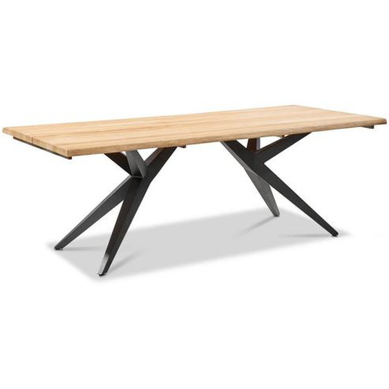 Musterring Gartentisch Holz, Metall Grau, Braun , Teakholz , massiv , 95x76 cm