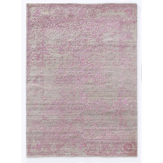 Musterring Orientteppich 70/140 cm Rosa, Beige , Textil , Uni , 70 cm
