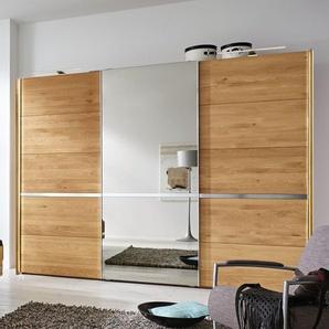 MUSTERRING Schwebetüren-Kleiderschrank Savona mit Spiegel, Eiche natur, 2-türig - Breite 200  cm