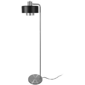 Musterring Stehlampe, Schwarz, Metall