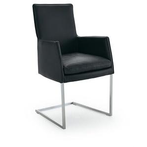 Musterring Stuhl ,Schwarz ,Leder