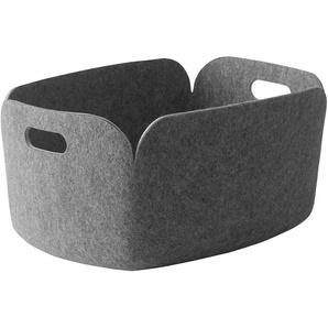 Muuto - Aufbewahrungskorb Restore - grey - indoor