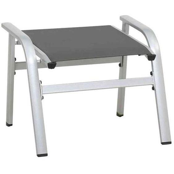 MWH Core Hocker Aluminium/Textilene Dunkelgrau