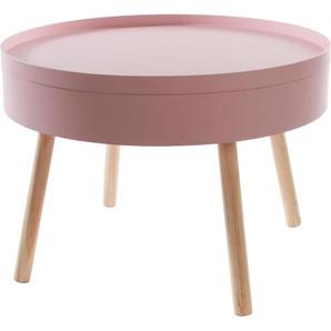 my Flair Beistelltisch Lynn, mit Stauraum B/H/T: 60 cm x 42 rosa Beistelltische Tische
