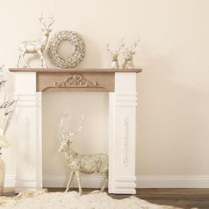 my Flair Kaminumbauschrank Rocco, Handgefertigte Umrandung aus Holz mit stabilem Stand B/H: 110 cm x 98 braun Kaminumrandung Kamin Öfenzubehör Heizen Klima