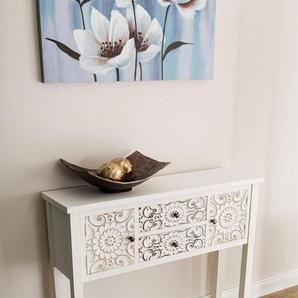 my Flair Konsole »Felicitas«, Konsole im orientalischem Design, 2 schubladen und doppelter Ablagfläche