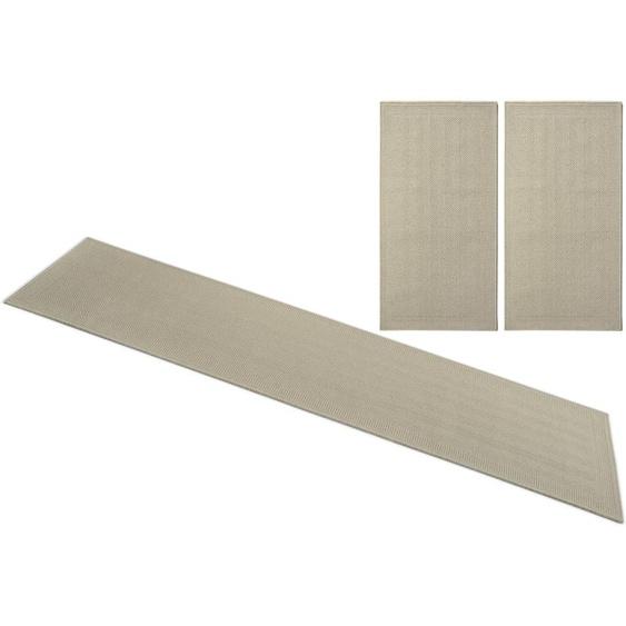 my home Bettumrandung Aslan, reine Wolle B/L (Brücke): 70 cm x 140 (2 St.) (Läufer): 270 (1 St.), rechteckig beige Bettumrandungen Läufer Teppiche