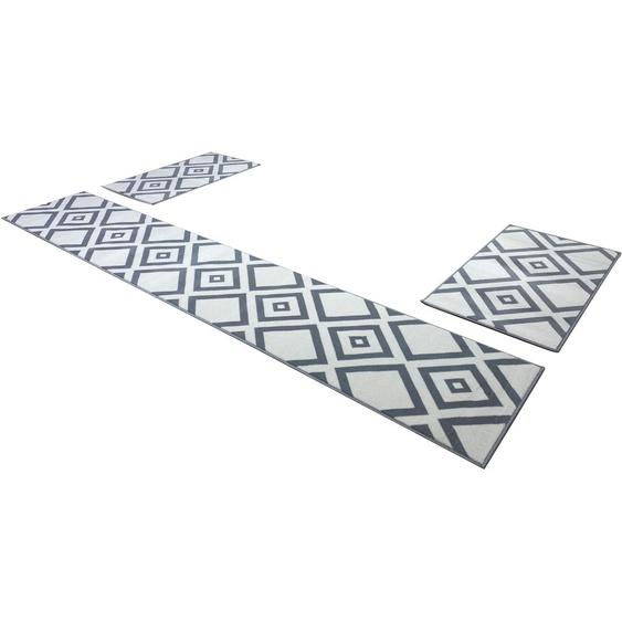 my home Bettumrandung Ferre, modernes Design B/L (Brücke): 60 cm x 110 (2 St.) (Läufer): 320 (1 St.), rechteckig grau Bettumrandungen Läufer Teppiche
