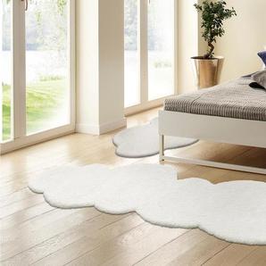 My Home Selection Bettumrandung »Magong«, 15 (2x Brücke 140x65 cm & 1x Läufer 270x65 cm), 28 mm Gesamthöhe, weiß