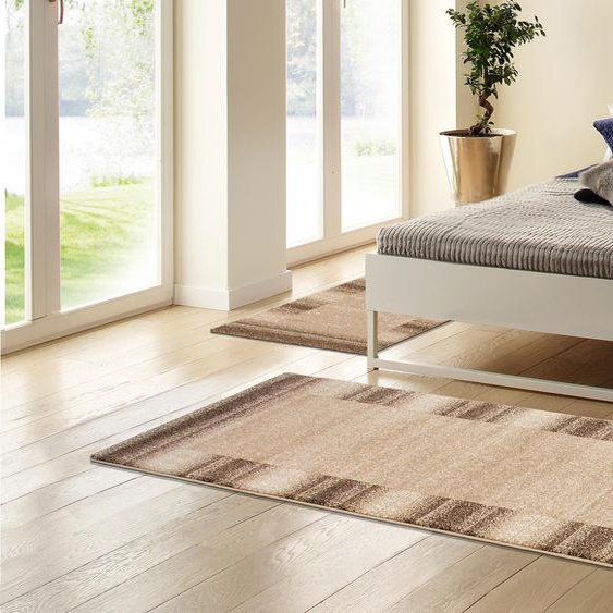 my home Bettumrandung Oriol, mit Bordüre B/L (Brücke): 70 cm x 140 (2 St.) (Läufer): 270 (1 St.), U-förmig grau Bettumrandungen Läufer Teppiche