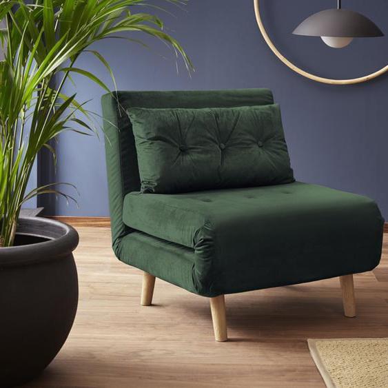 my home Daybett Samtvelours, 77x195 cm grün Tagesbetten Gästebetten Betten Daybetten